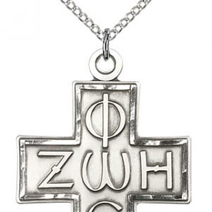 Sterling Silver Light & Life Cross Necklace #88102