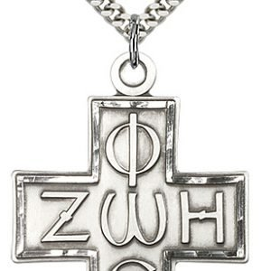 Sterling Silver Light & Life Cross Necklace #88106