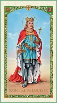 St. Louis holy card