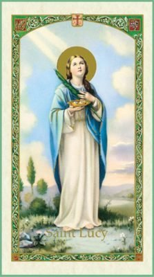 St Lucy Holy Card