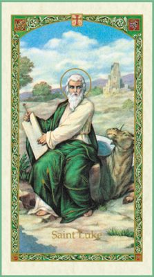 St. Luke Holy Card