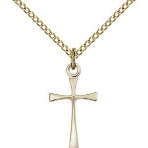 Gold Filled Maltese Cross Necklace #87420