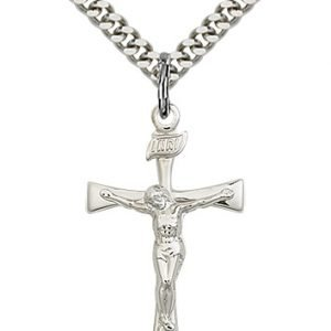 Sterling Silver Maltese Crucifix Necklace #87443