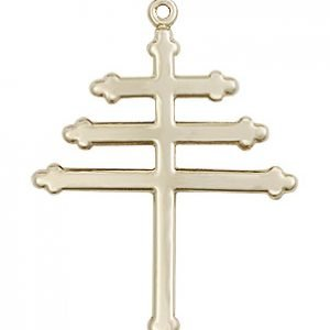 14kt Gold Marionite Cross Medal #86862