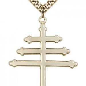 Gold Filled Marionite Cross Necklace #86860