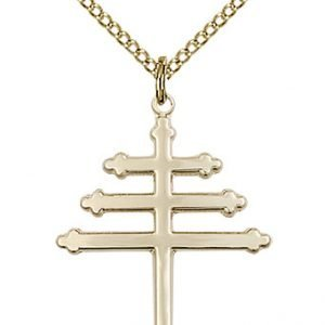 Gold Filled Marionite Cross Necklace #86880