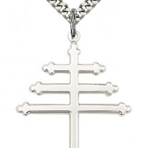 Sterling Silver Marionite Cross Necklace #86863
