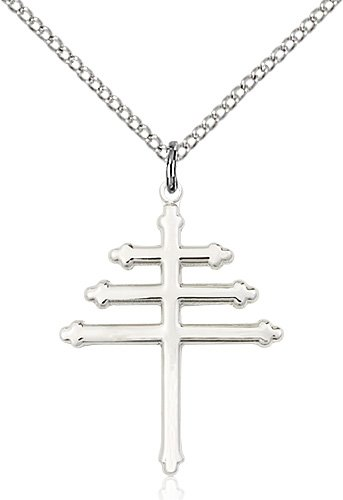 Sterling Silver Marionite Cross Necklace #86883