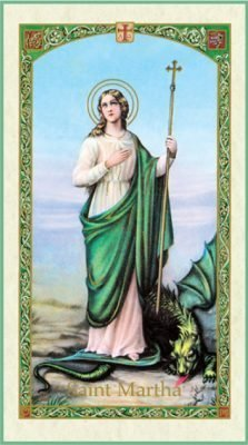 St Martha Holy Card