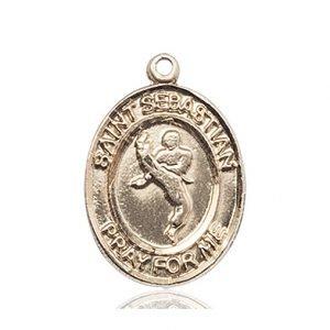 14kt Gold St. Sebastian Medal