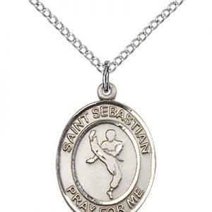 Sterling Silver St. Sebastian/Martial Arts Pendant