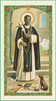 St Martin de Porres Holy Card