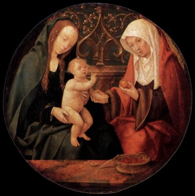 Virgin Mary, baby Jesus and Grandma St. Anne