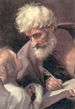 Matthew listening to an angel