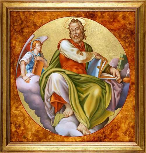 St Matthew with the Gospel
