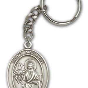 Antique Silver St Matthew Keychain