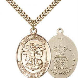 St. Michael Air Force Pendant - Gold Filled (#89881)