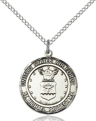 Sterling Silver Air Force - St. Michael Pendant
