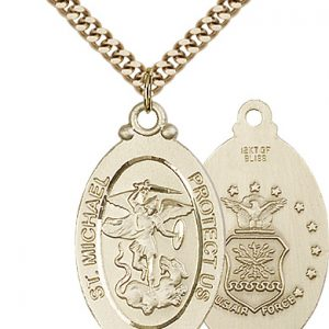 14kt Gold Filled St. Michael - Air Force Pendant