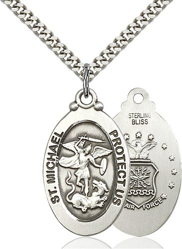 Sterling Silver St. Michael - Air Force Pendant