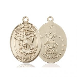 14kt Gold St. Michael - Air Force Medal
