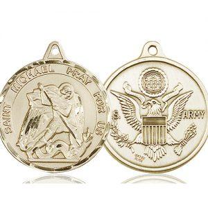 14kt Gold St. Michael Medal
