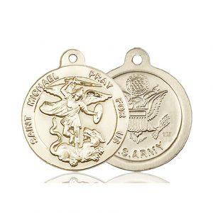 14kt Gold St. Michael the Archangel Medal