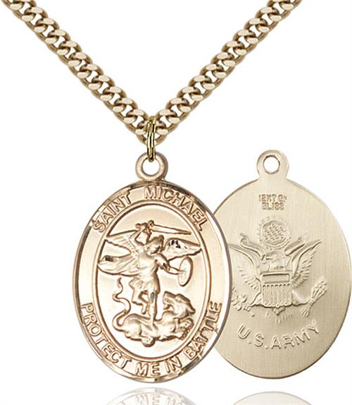 St. Michael Army Pendant - Gold Filled (#89882)