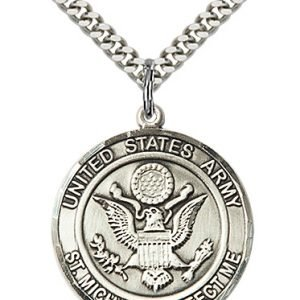 Sterling Silver Army - St. Michael Pendant
