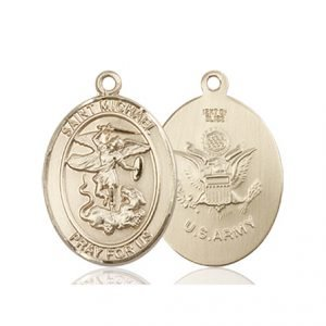14kt Gold St. Michael - Army Medal