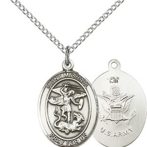 Sterling Silver St. Michael - Army Pendant