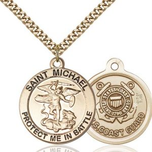 St. Michael Coast Guard Pendant - Gold Filled (#89829)