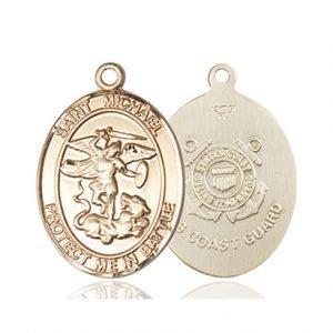 St. Michael Coast Guard Pendant - 14 KT Gold (#89871)