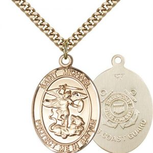 St. Michael Coast Guard Pendant - Gold Filled (#89883)