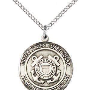 Sterling Silver Coast Guard - St. Michael Pendant