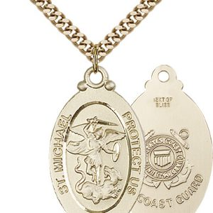 14kt Gold Filled St. Michael - Coast Guard Pendant
