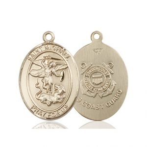 14kt Gold St. Michael - Coast Guard Medal