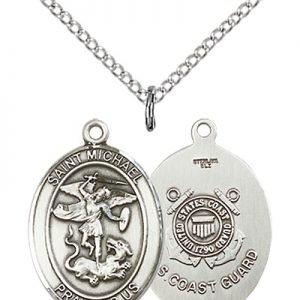 Sterling Silver St. Michael - Coast Guard Pendant