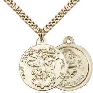 14kt Gold Filled St. Michael the Archangel Pendant