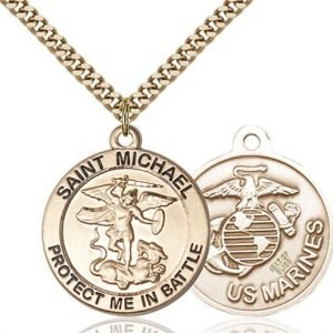 St. Michael Marines Pendant - Gold Filled (#89830)