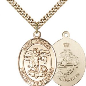 St. Michael Marines Pendant - Gold Filled (#89884)