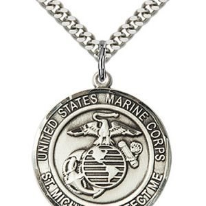 Sterling Silver Marines - St. Michael Pendant