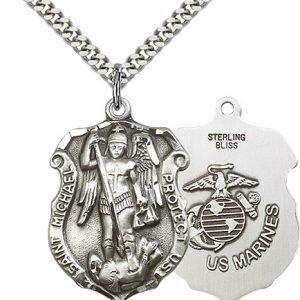 Sterling Silver St. Michael Pendant