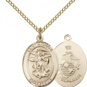 14kt Gold Filled St. Michael - Marines Pendant