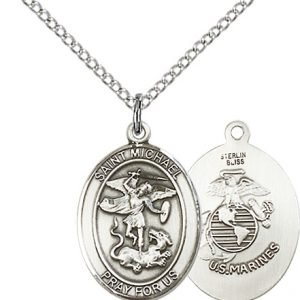 Sterling Silver St. Michael - Marines Pendant