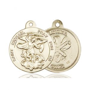 14kt Gold St. Michael the Archangel Medal