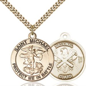 St. Michael National Guard Pendant - Gold Filled (#89831)