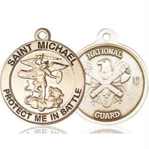 St. Michael National Guard Pendant - 14 KT Gold (#89837)