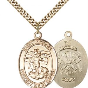 St. Michael National Guard Pendant - Gold Filled (#89885)