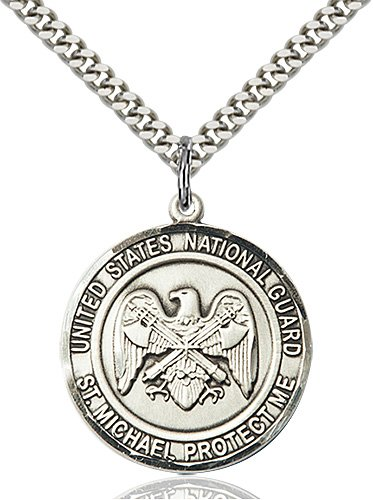 Sterling Silver National Guard - St. Michael Pendant